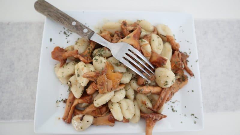 Gnocchi mit Eierschwammerln
