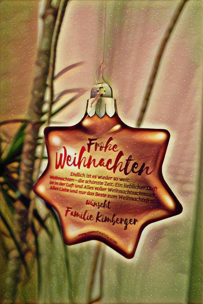 Standard Weihnachtsgrüße.Familie Kimberger Versendet Personalisierte Weihnachtsgrüße View