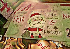 Familie Kimberger versendet personalisierte Weihnachtsgrüße