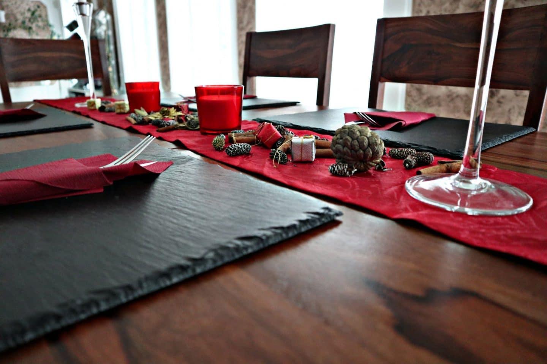Tischdekoration zu Weihnachten + unsere neue Essgarnitur von Tikamoon