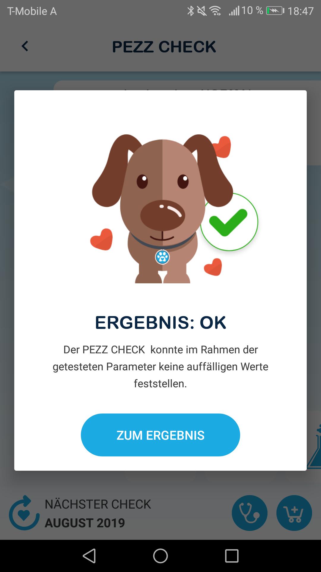 Urintest für den Hund